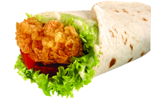 Chicken Wrap Combo